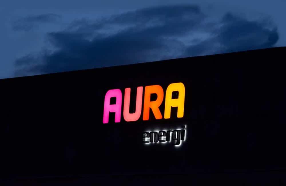 Facadeskilt for Aura